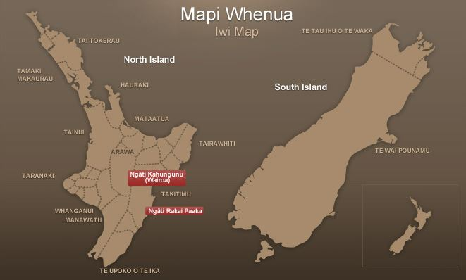 Iwi map - Ihaka Whaanga